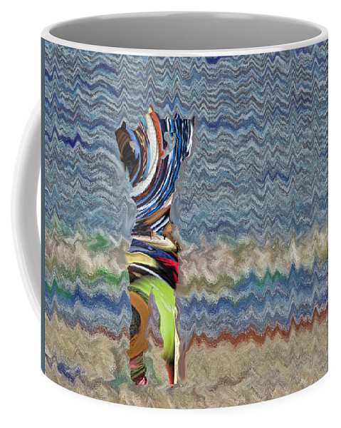 Abstract Coffee Mug featuring the digital art By The Sea by John Saunders