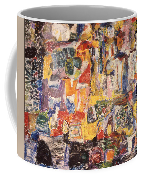 Painting Coffee Mug featuring the mixed media Byzantine Characters #1 by Richard Baron
