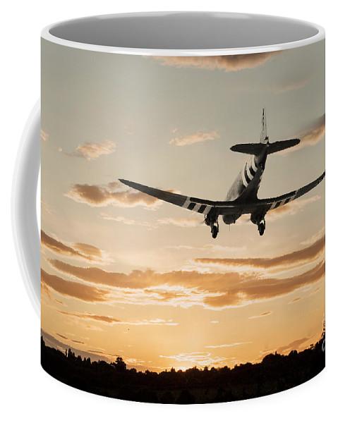 C-47 Skytrain Dakota Coffee Mug featuring the digital art C-47 Finals by J Biggadike