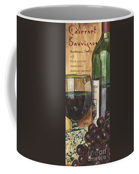 Cabernet Coffee Mug featuring the painting Cabernet Sauvignon by Debbie DeWitt