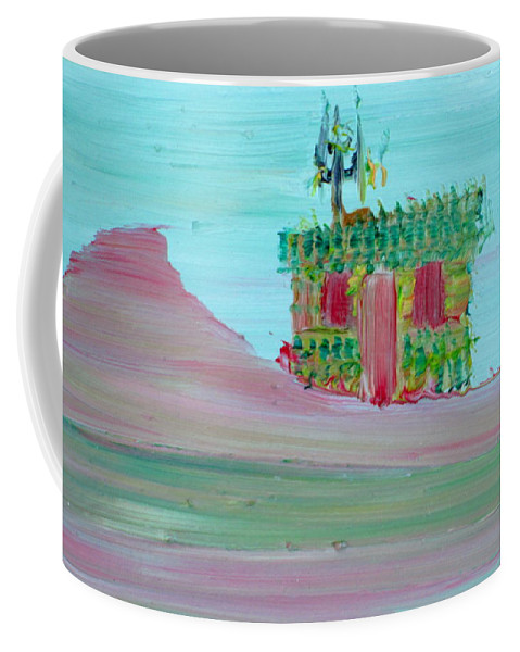 Cabin Coffee Mug featuring the painting Cabin by Fabrizio Cassetta