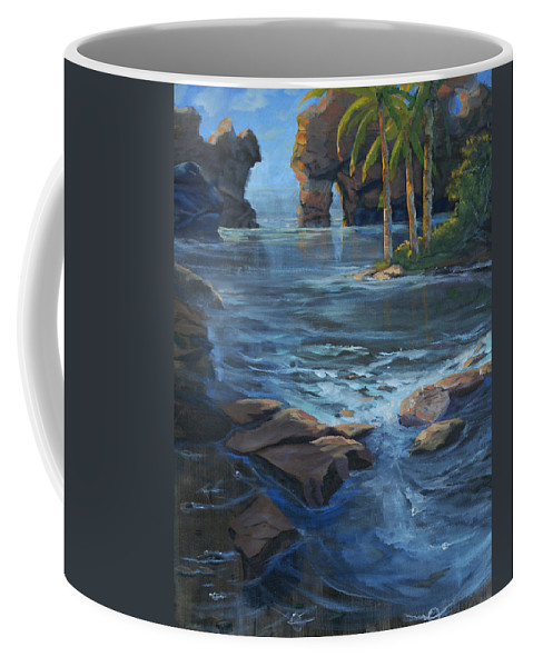 Cabo Coffee Mug featuring the painting Cabo San Lucas by Heather Coen