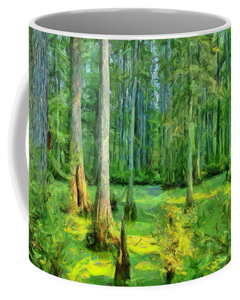 Swamp Coffee Mug featuring the photograph Cache River Swamp by Michael Flood