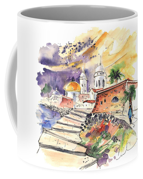 Travel Coffee Mug featuring the painting Cadiz Spain 01 by Miki De Goodaboom