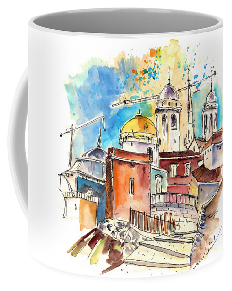 Travel Coffee Mug featuring the painting Cadiz Spain 02 by Miki De Goodaboom