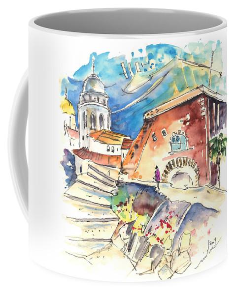 Travel Coffee Mug featuring the painting Cadiz Spain 03 by Miki De Goodaboom