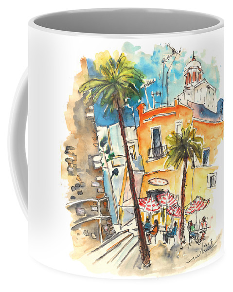 Travel Coffee Mug featuring the painting Cadiz Spain 04 by Miki De Goodaboom