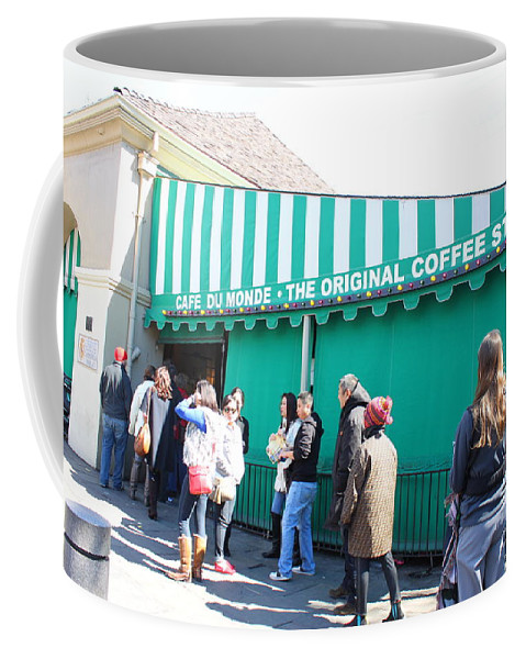 Iconic Coffee Mug featuring the photograph Cafe Du Monde by Bev Conover