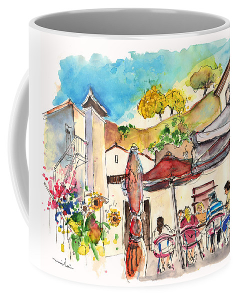 Portugal Coffee Mug featuring the painting Cafe In Barca De Alva by Miki De Goodaboom