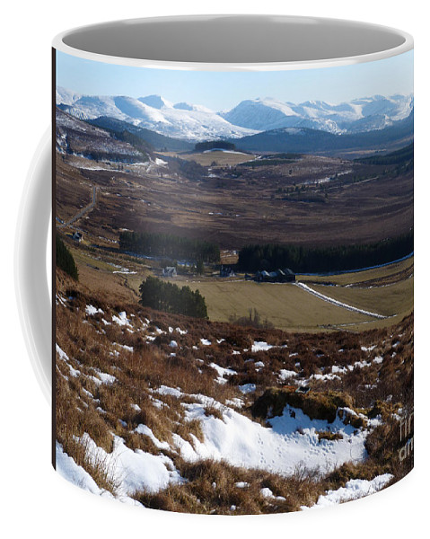 Cairngorm Mountains Coffee Mug featuring the photograph Cairngorms Mountains From Dorback by Phil Banks