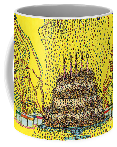 Cakes Coffee Mug featuring the painting Cake Balls Of Plenty by Maggie Pringle