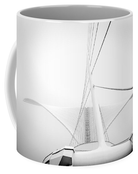 Lake Shore State Park Coffee Mug featuring the photograph Calatrava Wings by Andrew Slater