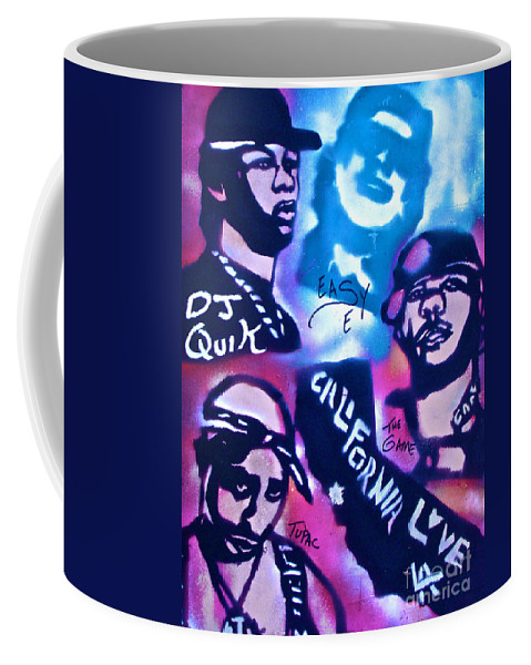 Hip Hop Coffee Mug featuring the painting Cali Love by Tony B Conscious
