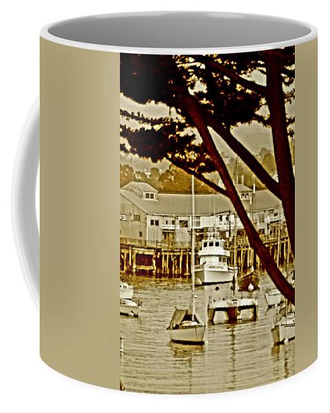 Sailboat Coffee Mug featuring the digital art California Coastal Harbor by Joseph Coulombe