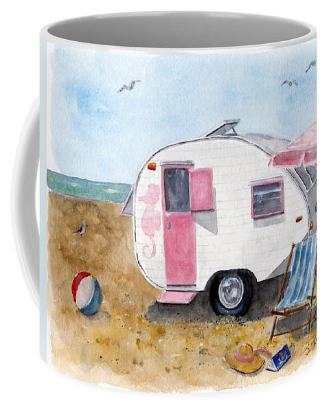 Original Watercolor Coffee Mug featuring the painting California Dreamin' by Sheryl Heatherly Hawkins
