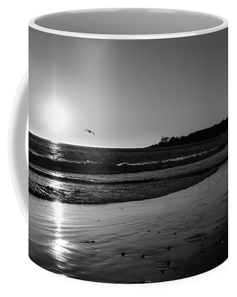Black & White Coffee Mug featuring the photograph California Sunset In Black And White by Charlene Gauld