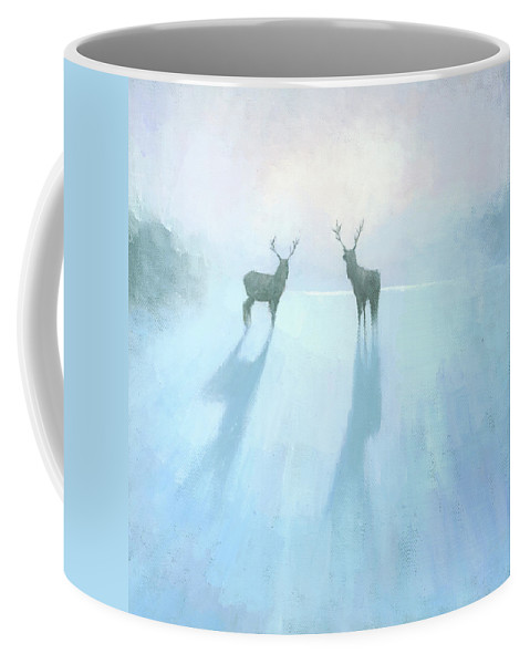 Original Coffee Mug featuring the painting Call Of The Arctic by Steve Mitchell