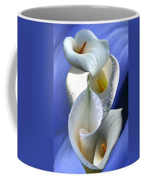 Calla Coffee Mug featuring the digital art Calla Composition by Lisa Yount