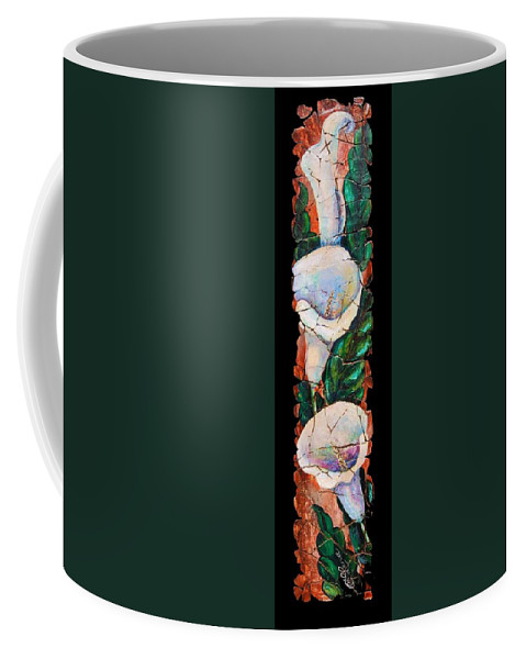 Fresco Antique Painting Flower Coffee Mug featuring the painting Calla Fresco by OLena Art Brand