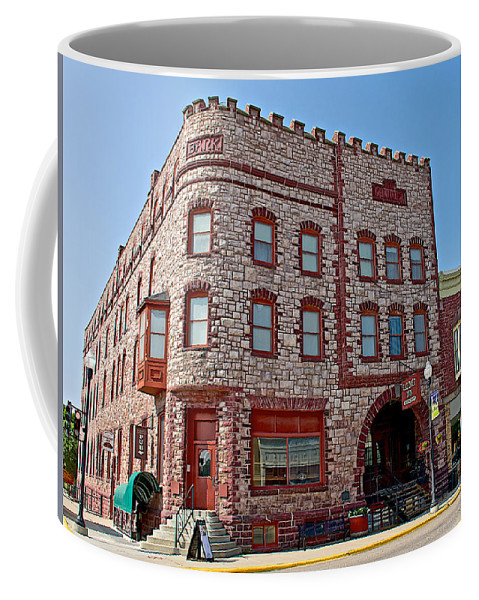 Calumet Hotel-1887 In Pipestone Coffee Mug featuring the photograph Calumet Hotel-1887 In Pipestone-minnesota by Ruth Hager