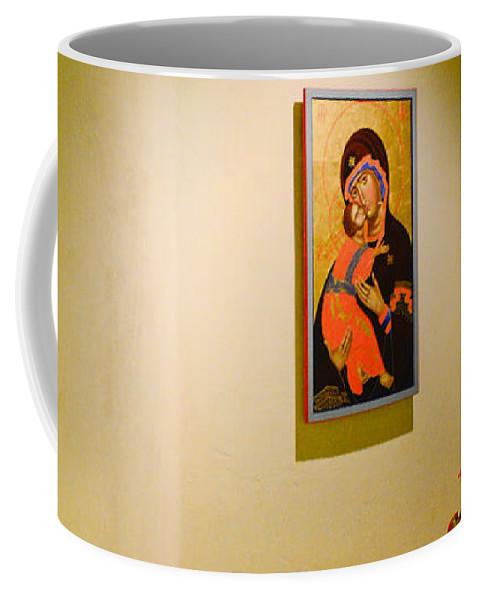 Camaldoli Hermitage Coffee Mug featuring the photograph Camaldoli Monastery Prayer Room by Jeff Black