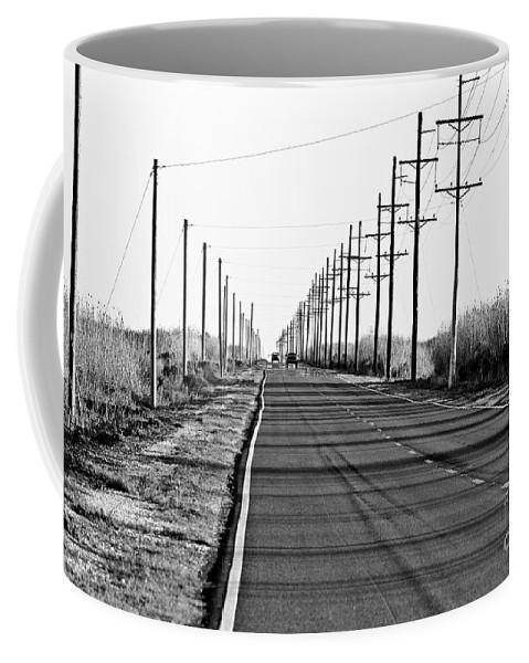 Black & White Coffee Mug featuring the photograph Cameron Prairie Road by Scott Pellegrin
