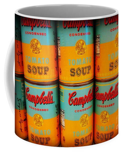 Campbell's Tomato Soup Coffee Mug featuring the photograph Campbell's Soup Retro Andy Warhol by Beth Ferris Sale