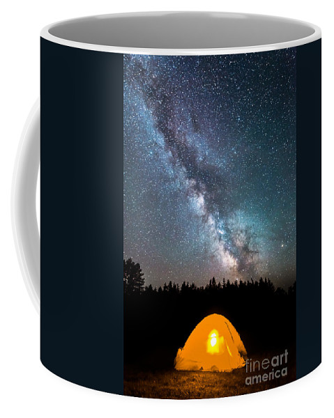 Camping Under The Stars Coffee Mug featuring the photograph Camping Under The Stars by Michael Ver Sprill