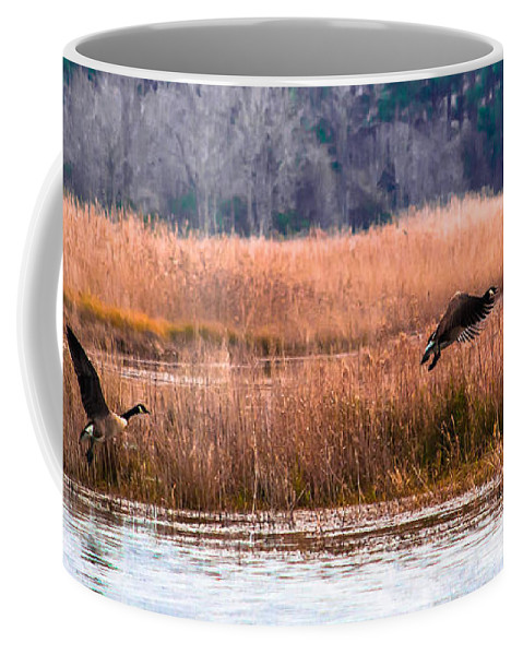 Canada Coffee Mug featuring the photograph Canadian Flight 2 by Scott Hervieux