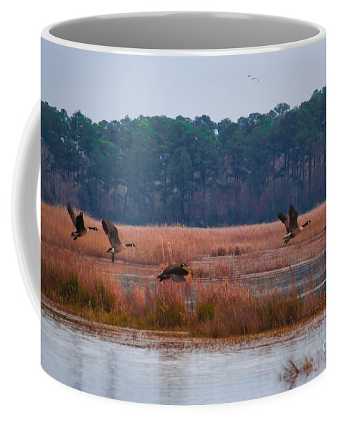 Canada Coffee Mug featuring the photograph Canadian Flight 3 by Scott Hervieux