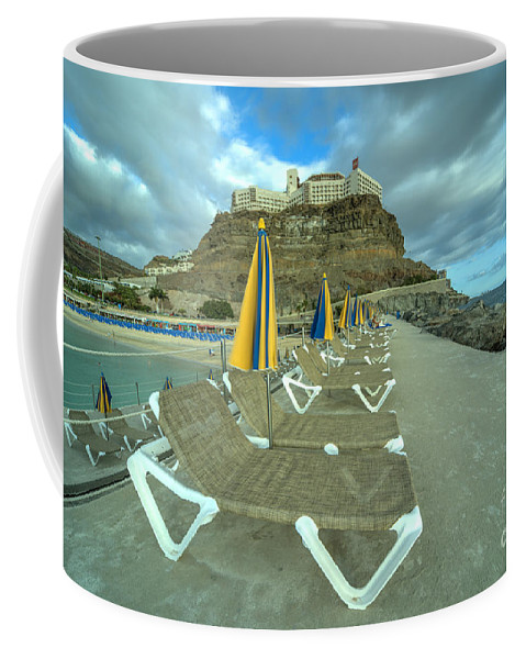 Playa Coffee Mug featuring the photograph Canarian Loungers by Rob Hawkins
