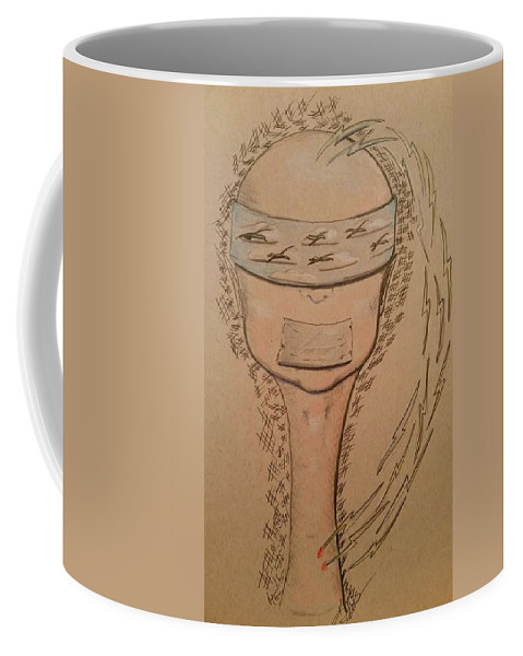 Birds Coffee Mug featuring the drawing Cancer Birds Of Hope by Kimberlee Marvin