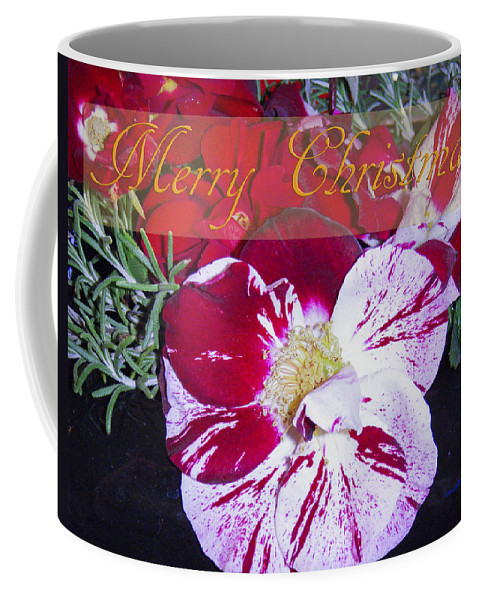Candy Cane Coffee Mug featuring the photograph Candy Cane Flower-2 by Tamara Kulish