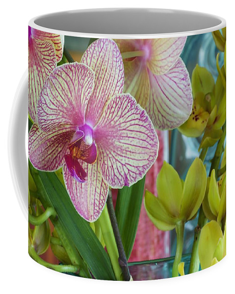Floral Coffee Mug featuring the photograph Candy Striper by Jade Moon