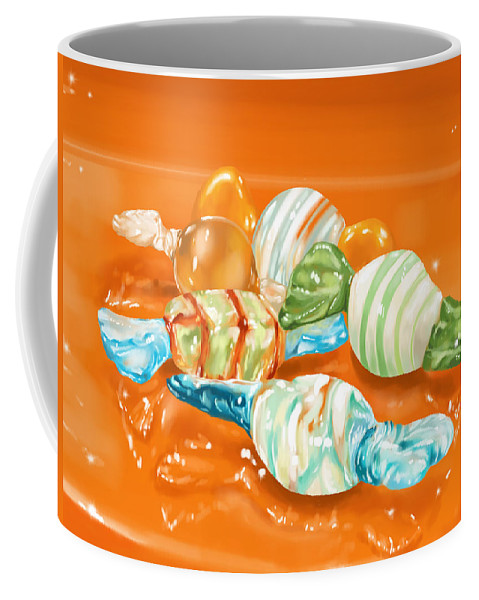 Digital Coffee Mug featuring the painting Candy by Veronica Minozzi