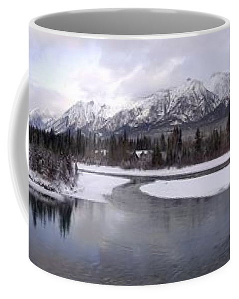 Canmore Coffee Mug featuring the photograph Canmore Winter by Ian Mcadie