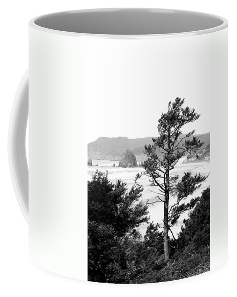 Black And White Coffee Mug featuring the photograph Cannon Beach by David Patterson