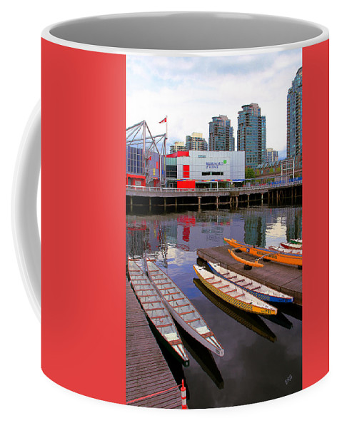 Science World Coffee Mug featuring the photograph Canoe Club And Telus World Of Science In Vancouver by Ben and Raisa Gertsberg