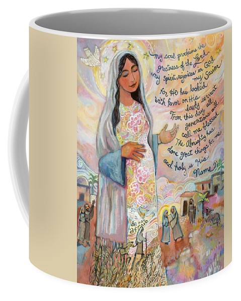 Jen Norton Coffee Mug featuring the painting Canticle of Mary by Jen Norton