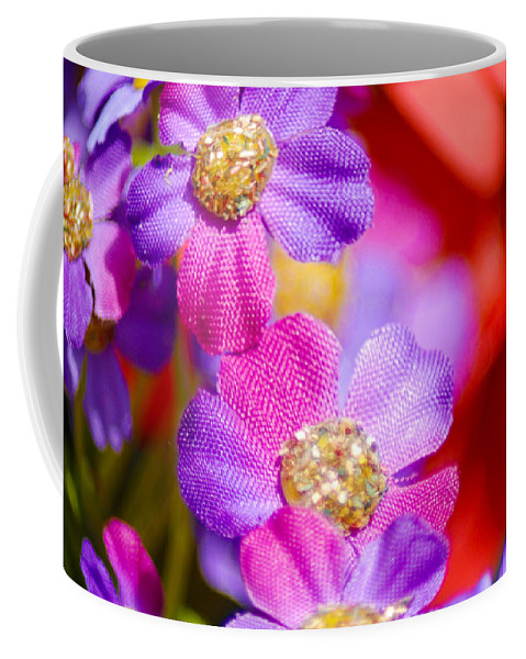 Flowers Coffee Mug featuring the photograph Canvas Flowers by Optical Playground By MP Ray