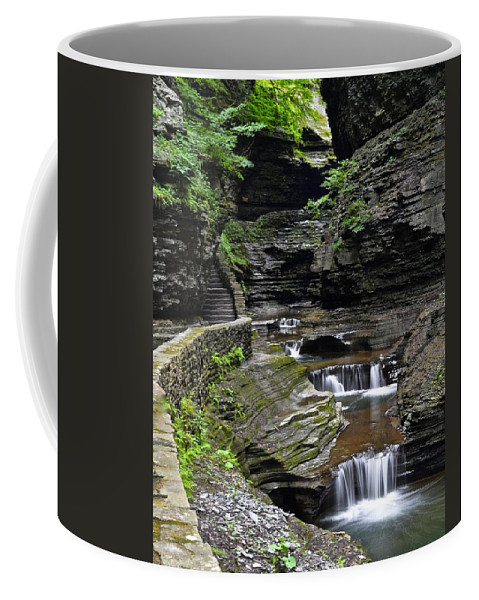 Canyon Coffee Mug featuring the photograph Canyon Cascade by Frozen in Time Fine Art Photography