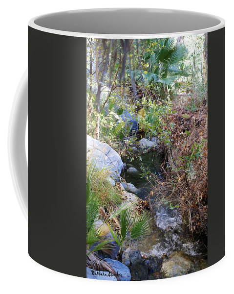 Canyon Creek Coffee Mug featuring the digital art Canyon Creek by Barbara Snyder
