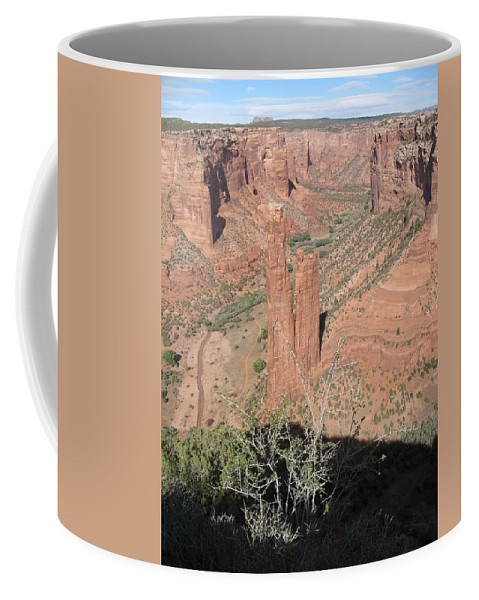 Canyon Coffee Mug featuring the photograph Canyon De Chelly Spider Rock by Christiane Schulze Art And Photography