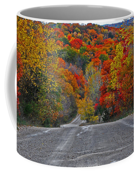 Fall Colors Coffee Mug featuring the photograph Canyon Hill by Audie T Photography