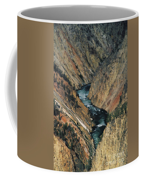 Yellowstone Coffee Mug featuring the photograph Canyon Jewel by Kathy McClure
