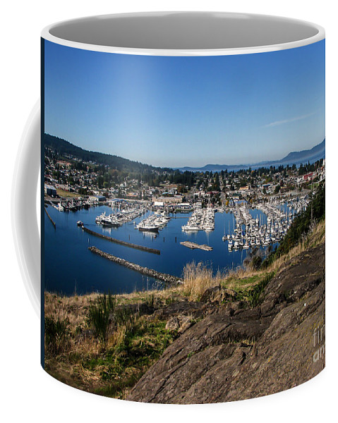 Anacortes Coffee Mug featuring the photograph Cap Sante Marina by Robert Bales