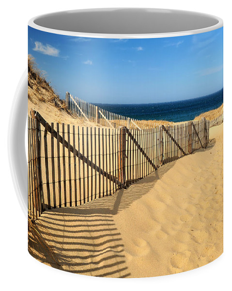 The World's Best Coffee Mug featuring the photograph Cape Cod Beach by Mitchell R Grosky