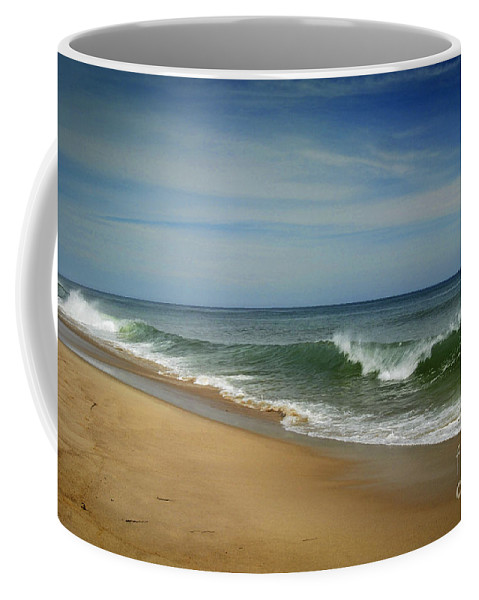 Waves Coffee Mug featuring the photograph Cape Cod Waves by Alana Ranney