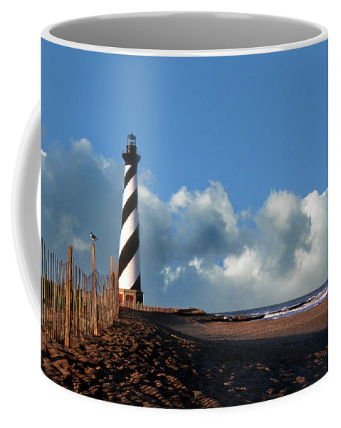 Lighthouses Coffee Mug featuring the photograph Cape Hatteras Lighthouse Nc by Skip Willits