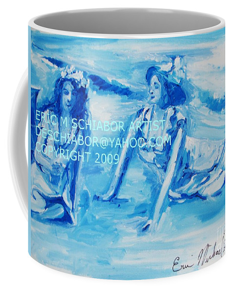 Bathing Coffee Mug featuring the painting Cape May Bathing Beauty by Eric Schiabor